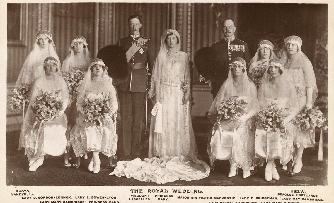 The Queen Mother as a Bridesmaid