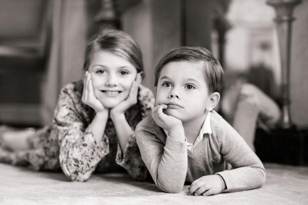 Prince Oscar, Princess Estelle of Sweden