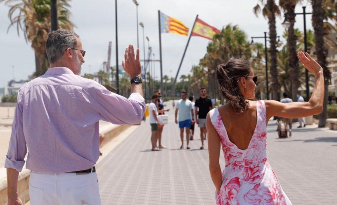 King Felipe and Queen Letizia of Spain visit Benidorm
