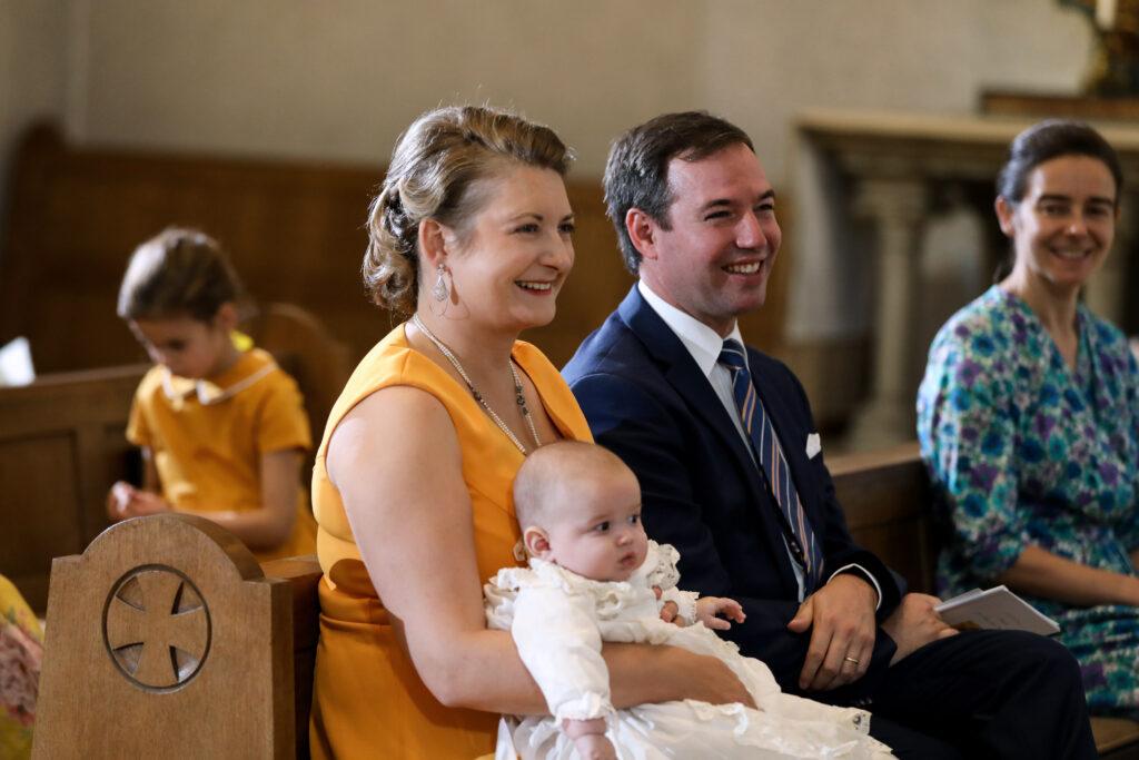 Hereditary Grand Duke Guillaume, Hereditary Grand Duchess Stephanie, Prince Charles of Luxembourg