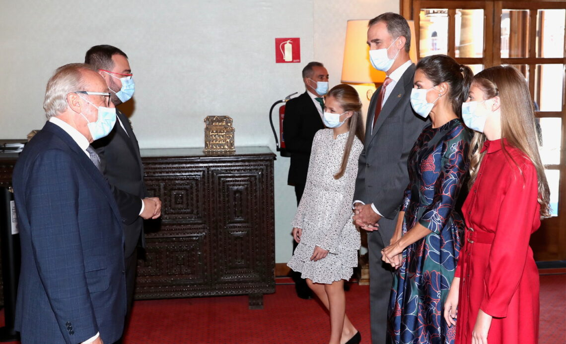 King Felipe, Queen Letizia, Princess Leonor, Infanta Sofia