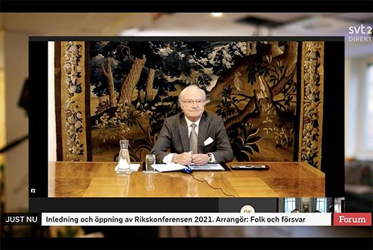 King Carl XVI Gustaf at Defence Conference 2021