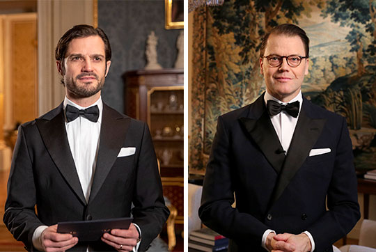 Prince Carl Philip and Prince Daniel at the 2021 Sports Awards