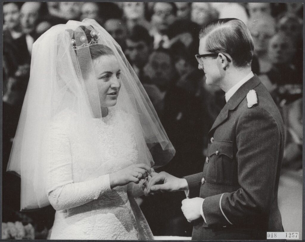 Princess Margriet of the Netherlands at her wedding
