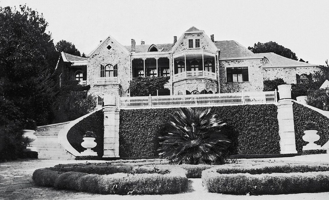 A vintage photo of Tatoi Palace