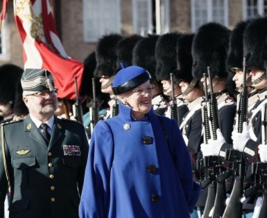 Queen Margrethe at Clock Parade 2021