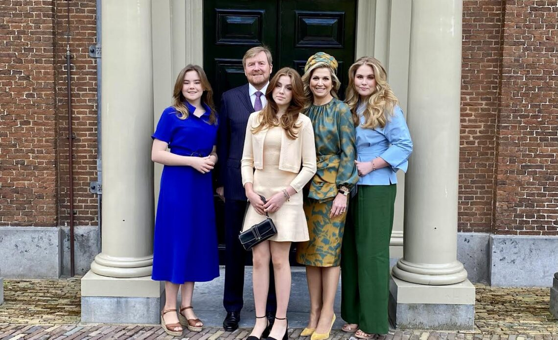 King Willem-Alexander and his family on King's Day 2021