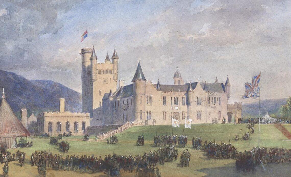 Egron Sellif Lundgren, The Highland Fe?te at Balmoral, 22 September 1859, c.1859