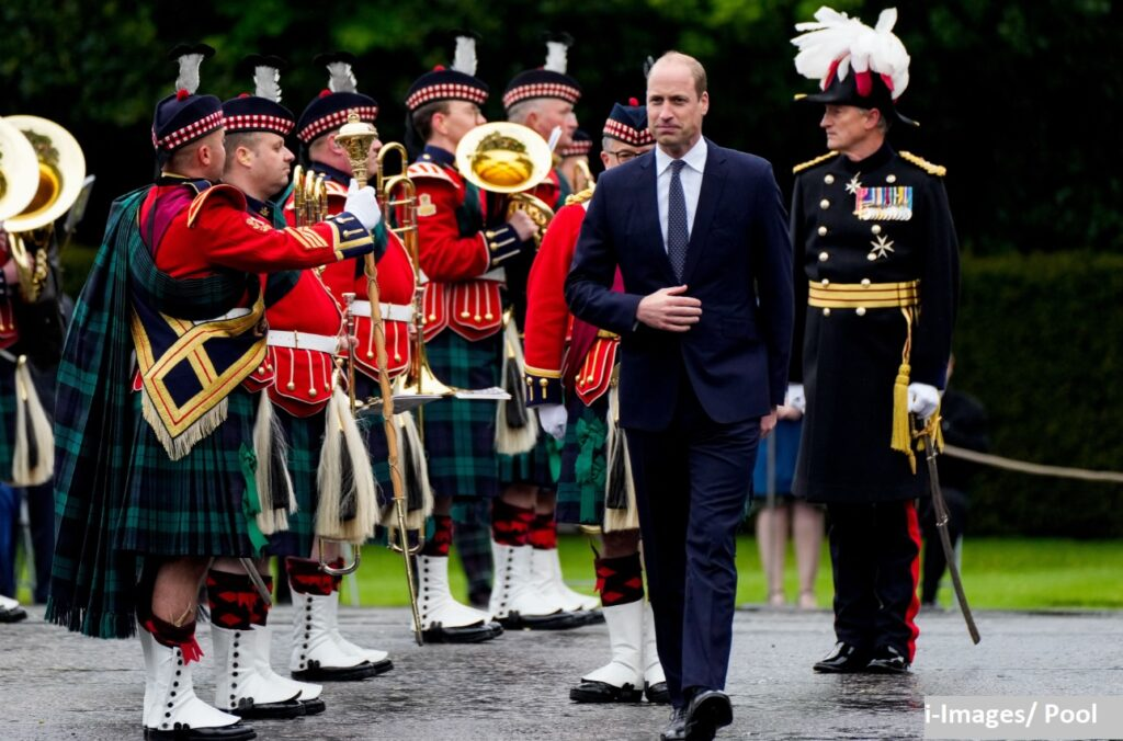 Prince William inspects Guard of Honour at Holyroodhouse Palace