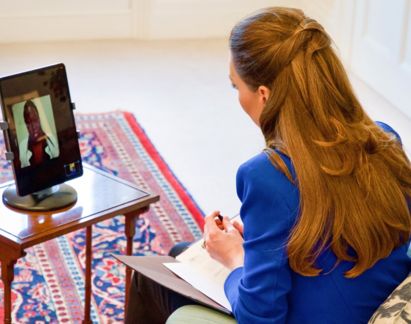 The Duchess of Cambridge interview Harriet Nayiga for Nursing Times