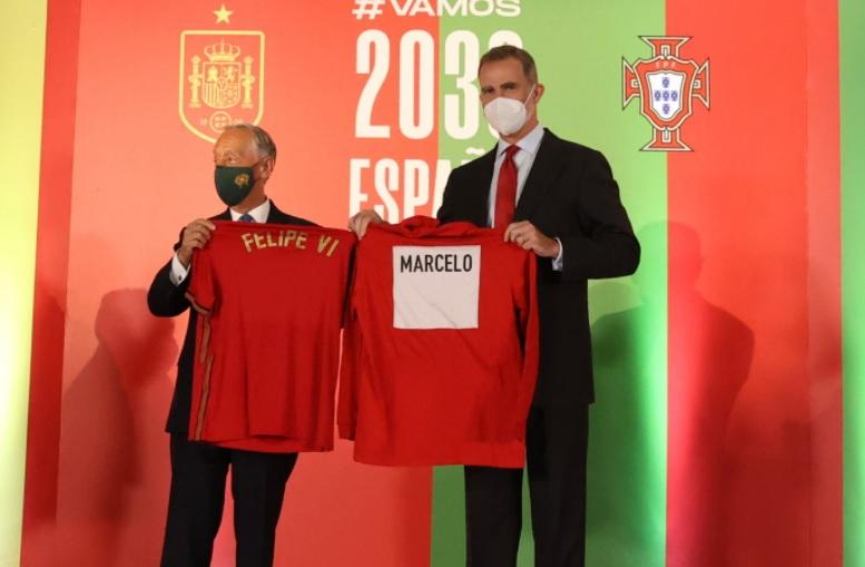 King Felipe of Spain with the President of Portugal, Marcelo Rebelo de Sousa