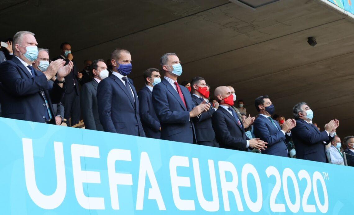 King Felipe attends Euro 2020 match in Seville