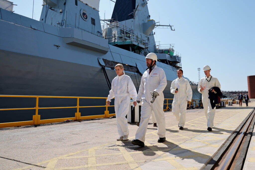 The Countess of Wessex visits HMS Daring in Portsmouth