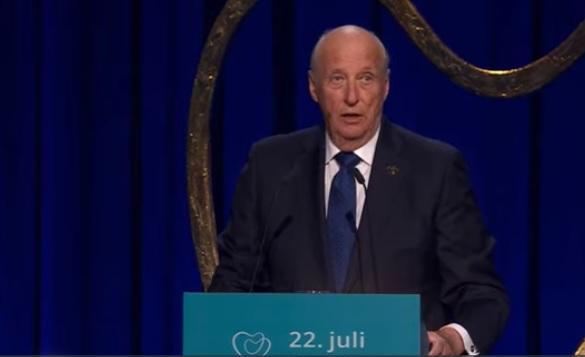 King Harald gives speech on tenth anniversary of Utoya terror attacks
