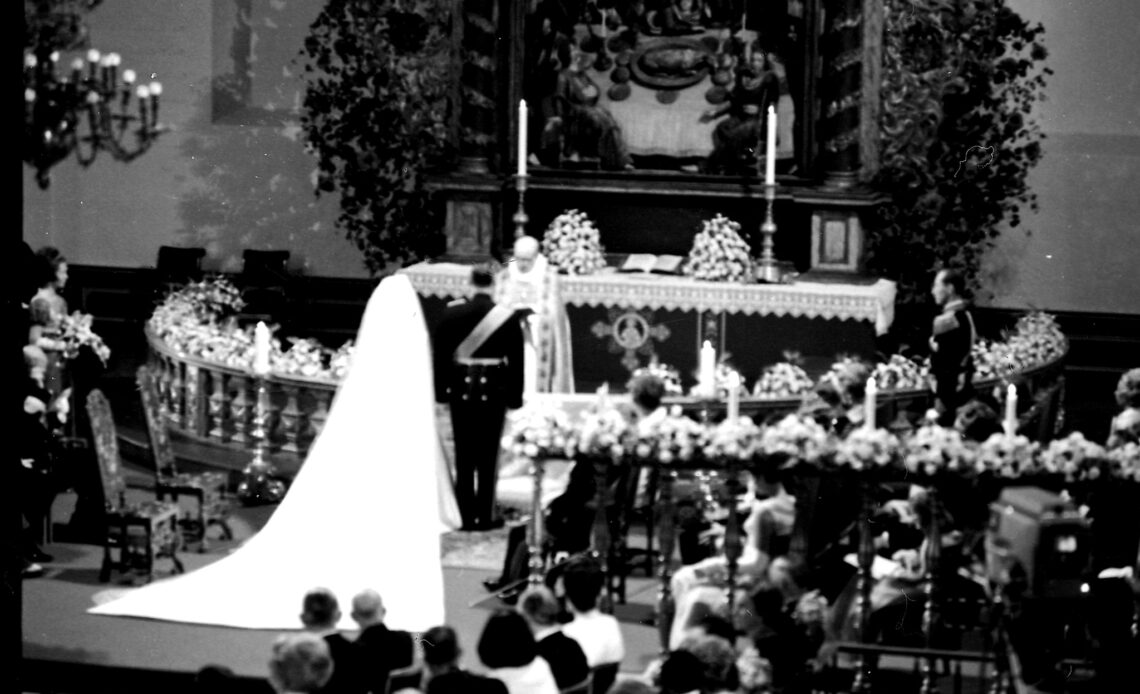 The wedding of King Harald and Queen Sonja in 1968