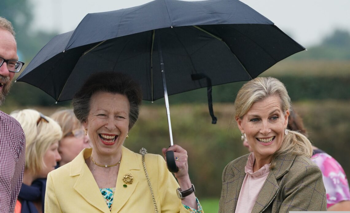 The Princess Royal and the Countess of Wessex on a visit to Cumbria